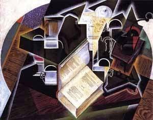 Tubo, Livro e Vidros - Técnica de colagem e cubismo nas obras de Juan Gris