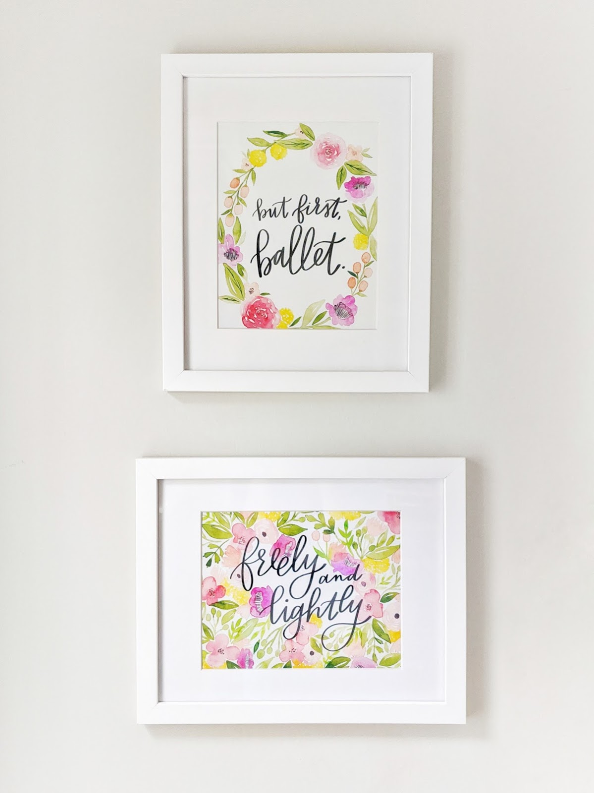 """But first, ballet"" hand lettered watercolor print inspired by the ballet novel Cantique"