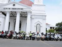 Komunitas Honda PCX 150 Gelar City Touring Jelajah kota Semarang