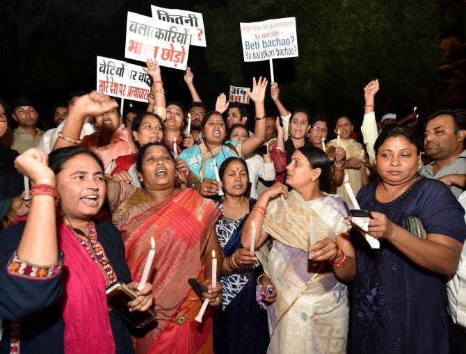 Massive outrage over Kathua, Unnao rape incidents