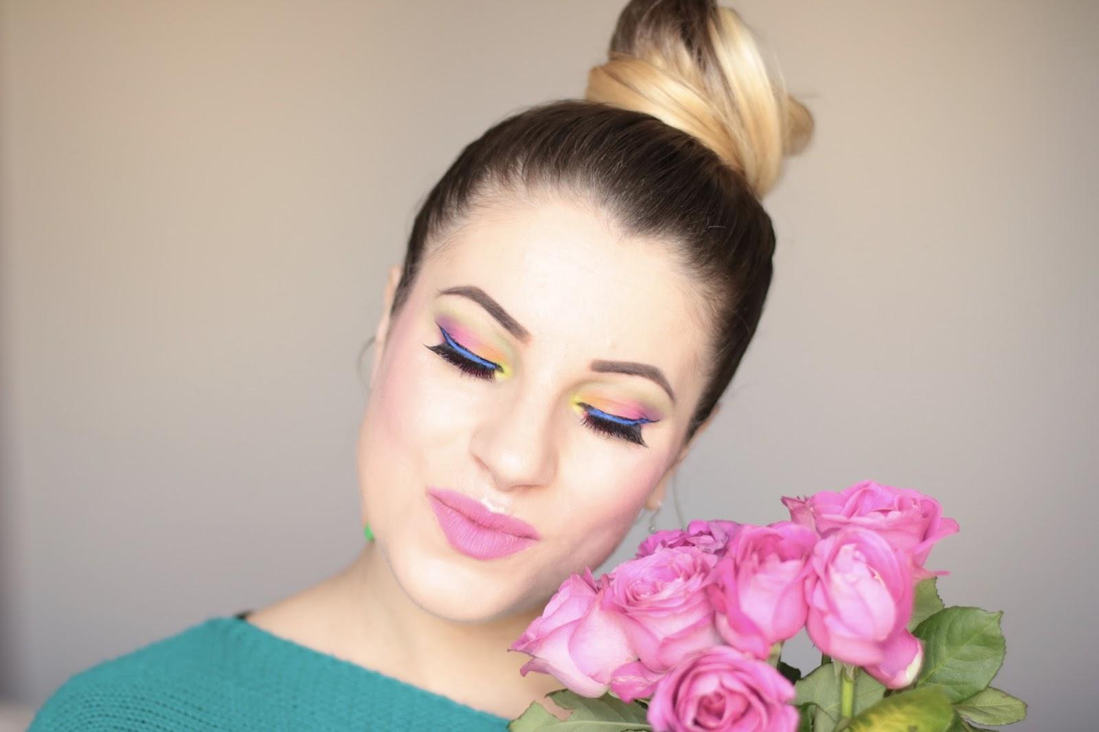 Makijaż Zmalowany Tęczą - Rainbow Makeup