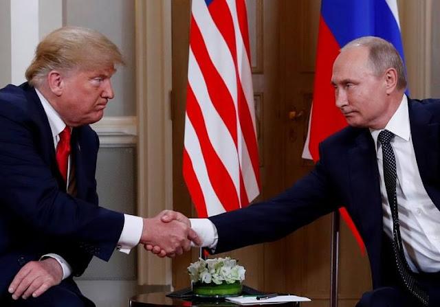 Tổng thống Mỹ D. Trump và Tổng thống Nga V. Putin