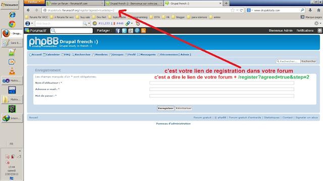Comment identifier le lien d'inscription dans votre forum