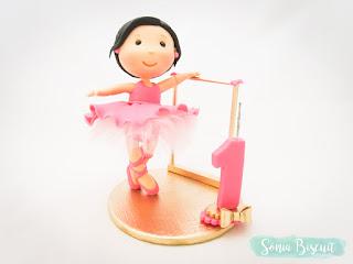 Bailarina Biscuit Topo de Bolo Lembrancinha
