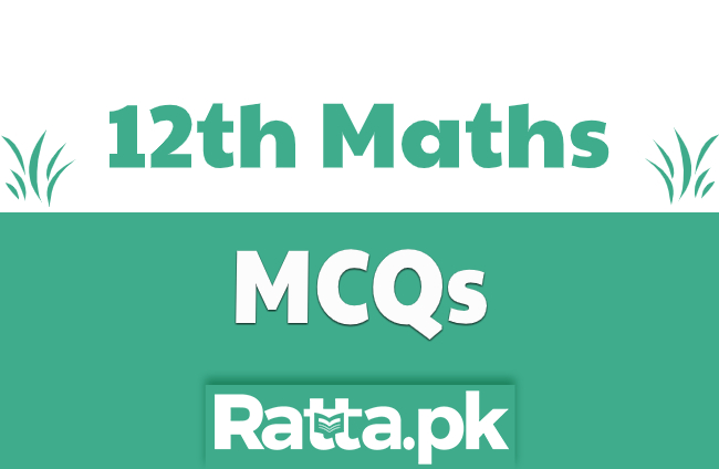 2nd Year Maths Solved MCQs pdf Download