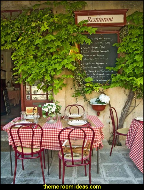 Bistro in Provence, France wallpaper mural