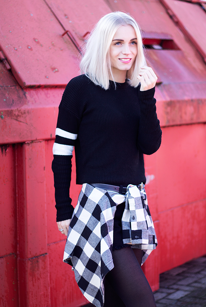 Fashion Attacks Subdued outfit ootd black white blocks