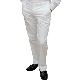 Marco Carlotti white cotton trousers