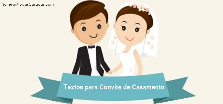 Textos para convite de casamento