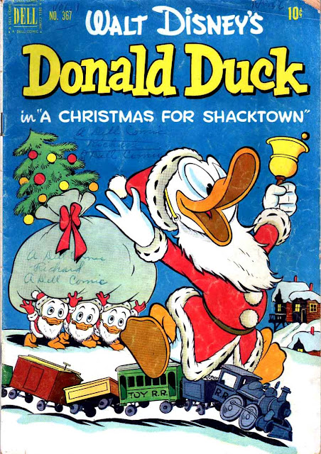 Donald Duck / Four Color Comics v2 #367 - Carl Barks 1940s comic book cover art