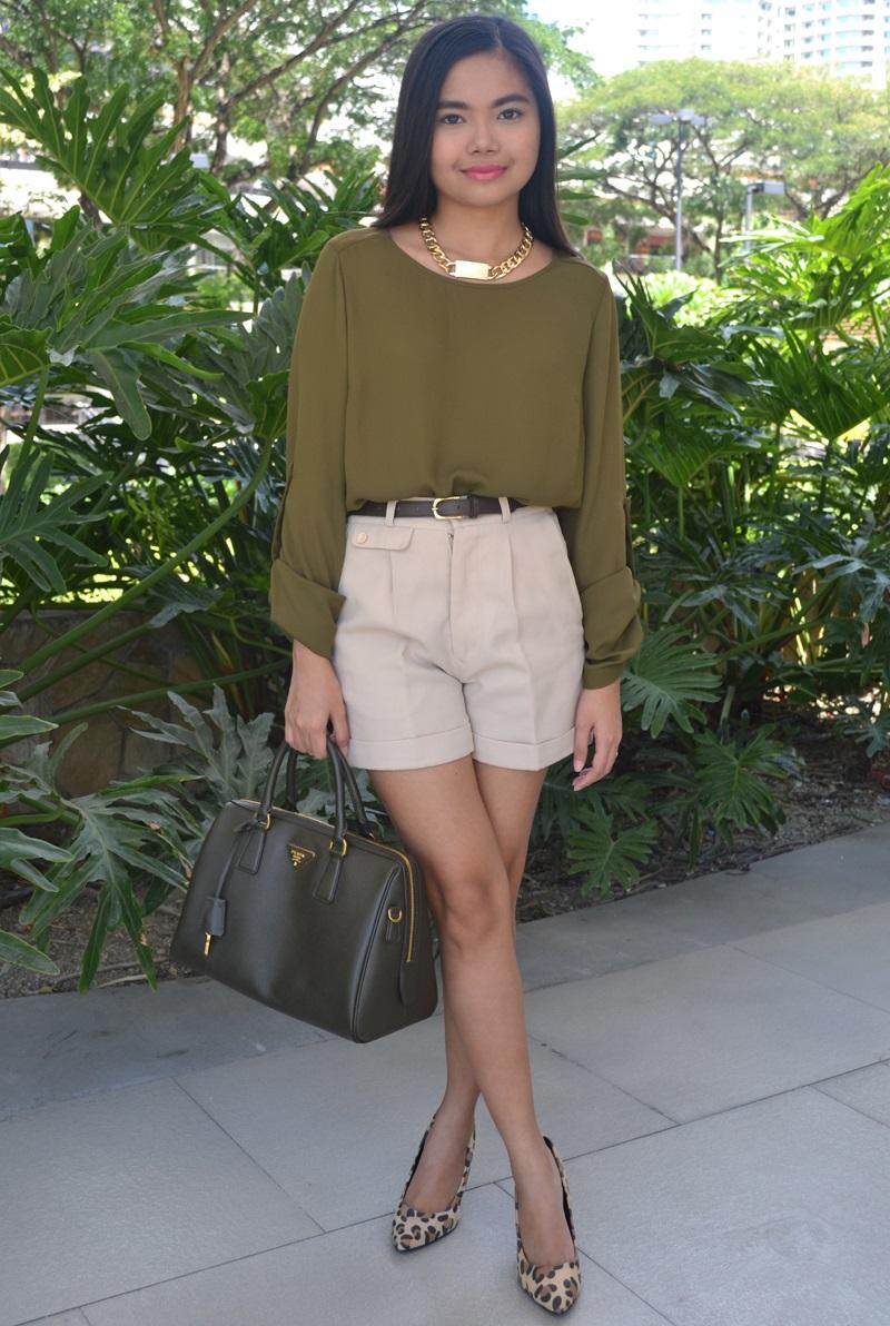 fa9abea1f8e Olive Green Blouse Outfit