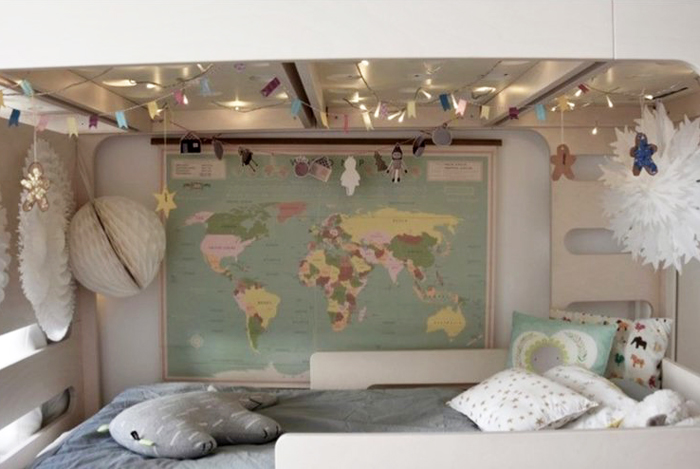 world under the bunk bed for a smaller child