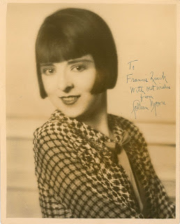 Movie Star colleen Moore Fan Photograph dedicated to master painter Francis Quirk