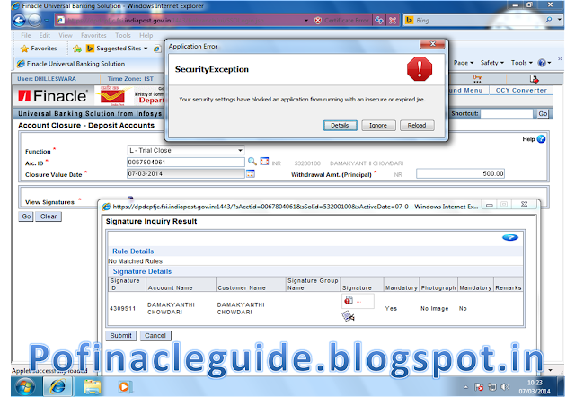 Dop Finacle Accessibility Issue And Solution Finacle