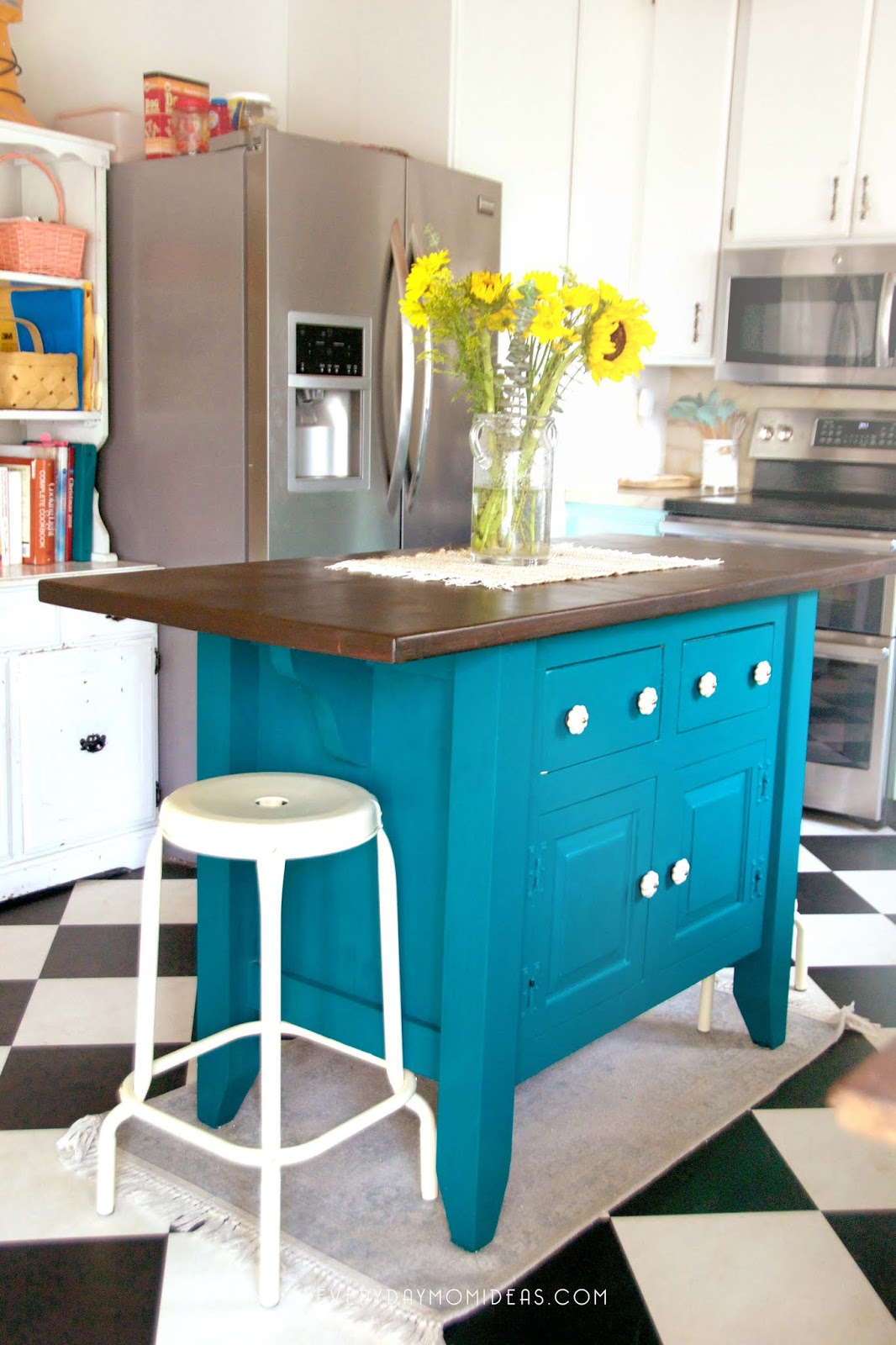 1928 Bungalow Kitchen Island Makeover Reveal - Everyday Mom Ideas
