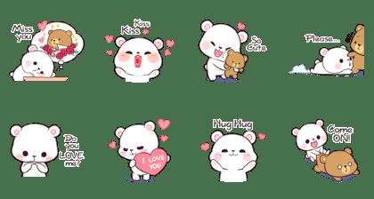 Milk & Mocha (Sachet Sticker)