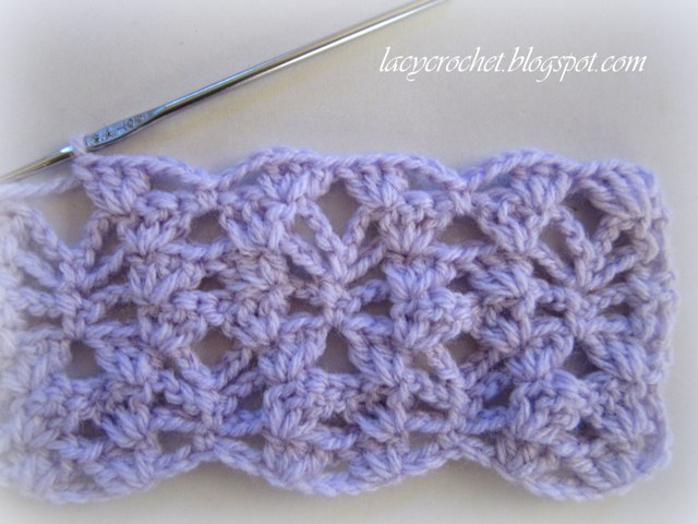 We need to work the instructions from  to second  thetotal of 12  How To Crochet A Baby Blanket Step By Step