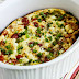 Roasted Green Pepper and Tomato Breakfast Casserole with Feta and Oregano