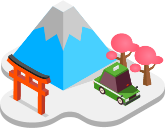 mt.Fuji and other Japanese emblems