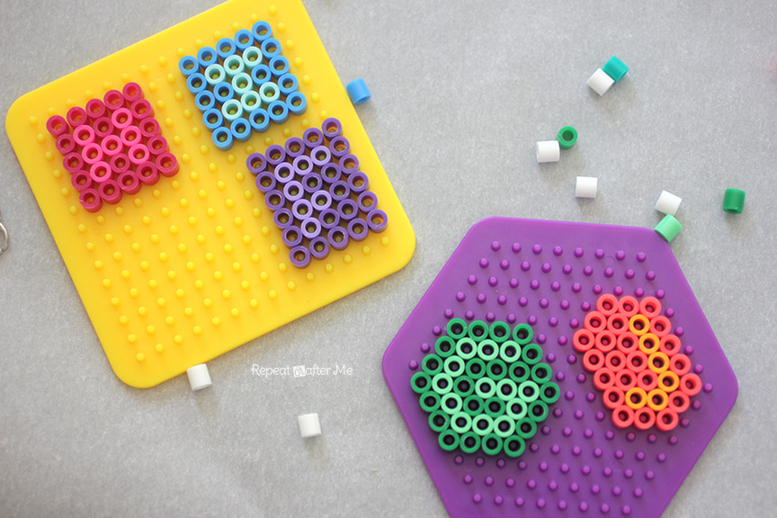 place parchment paper or paper that comes with perler bead pack over beaded plate and iron until beads are melted together but dont over do it