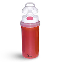 OX-300 Botol Minum Oxone Rainbow Twist & Turn Bottle 300ml - Merah