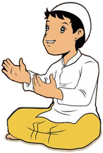 Gambar Kartun Muslim Berdoa Khazanah Islam