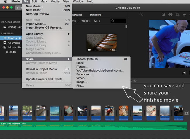 The Lady Okie: How to Make Homemade Movie Collages Using iMovie