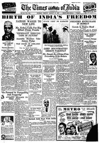 Independence Day 15 August 1947