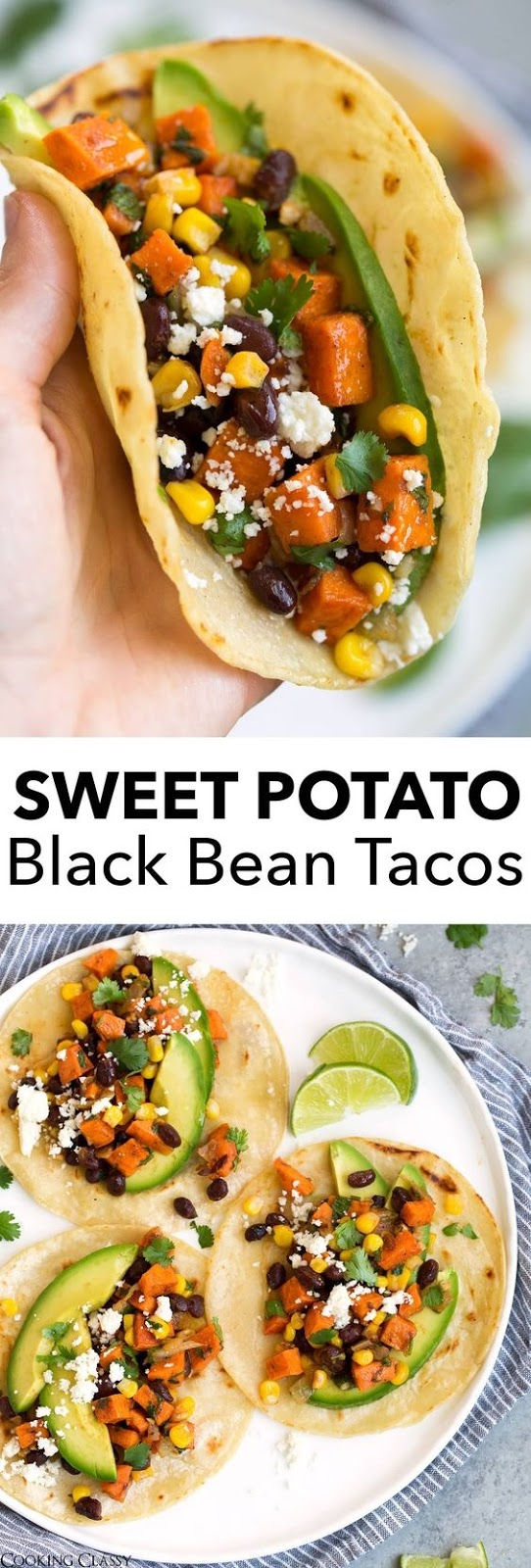 Sweet Potato And Black Bean Tacos (With Honey And Lime)