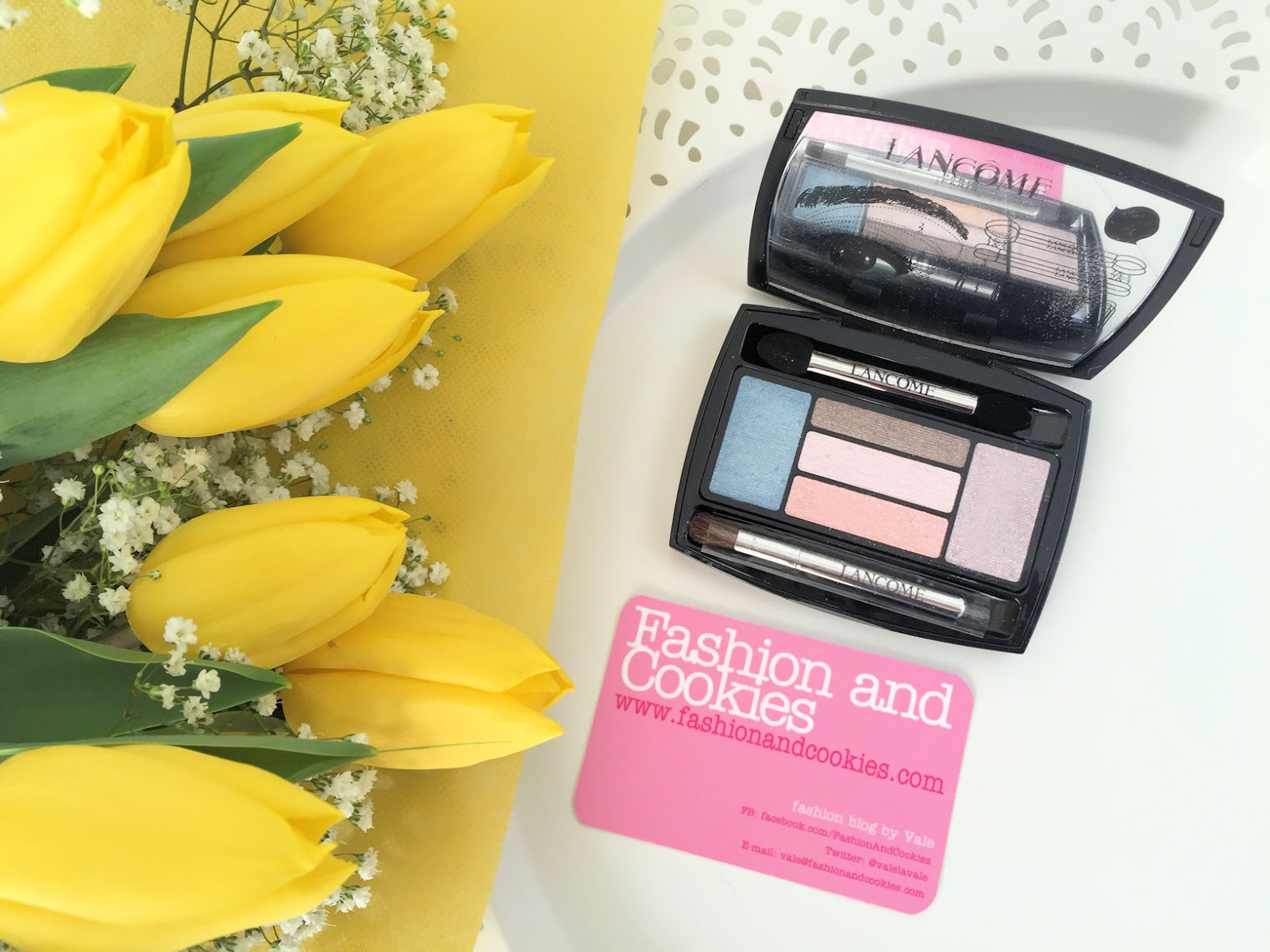 Lancôme makeup collection for Spring 2016 My Parisian Pastels eye makeup on Fashion and Cookies beauty blog, beauty blogger