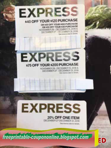 Express printable coupons february 2018