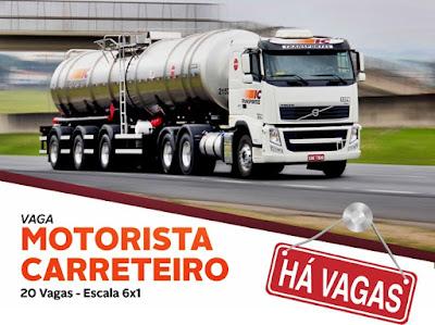 VAGAS PARA MOTORISTA CARRETEIRO