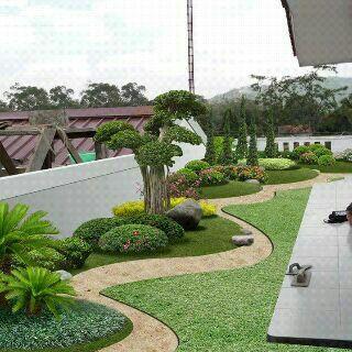 landscape taman kantor