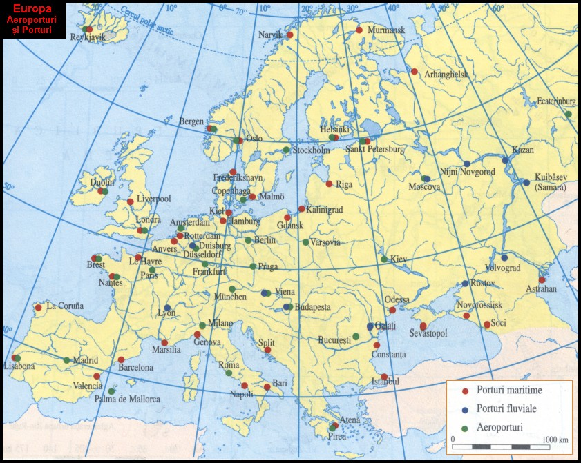 Europa Harta Economica 1400x1000 Mm Emag Ro