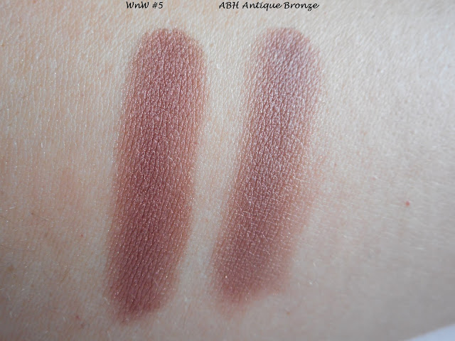 Wet n Wild Color Icon Rose in the Air #5 vs ABH Modern Renaissance Antique Bronze
