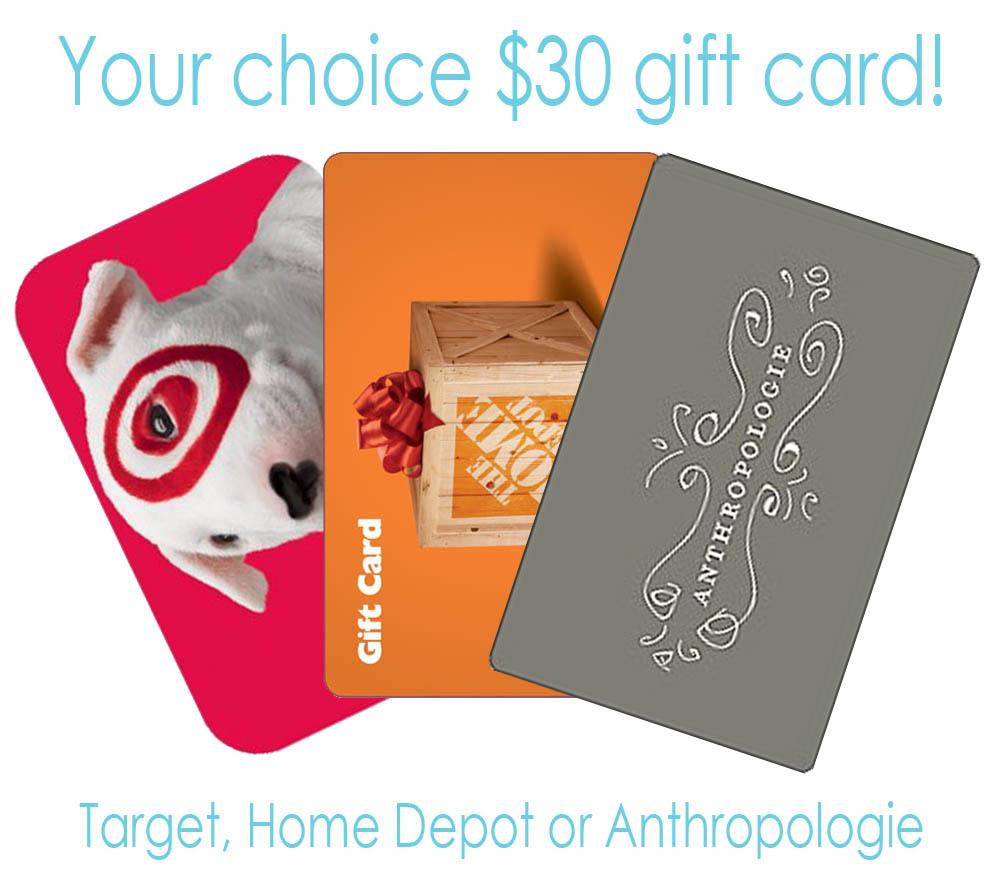 30 Gift Card Winner Classy Clutter