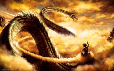Dragon Ball Z Goku Shenron - Fond d'Écran en Full HD