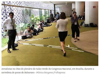 Restrições à imprensa no dia de posse de Bolsonaro
