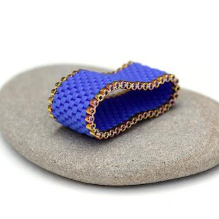 купить широкие интересные кольца авторские изделия из бисера купить в интернет-магазине