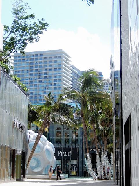 Vista del centro comercial Miami Design District