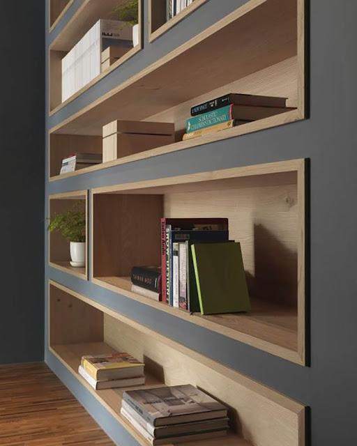 bibliothèque sur mesure design