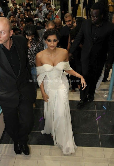 Sonam Kapoor Hot in Unseen White Dress