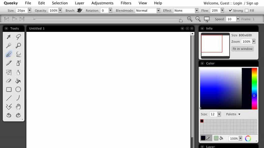 queeky paint online free drawing tool