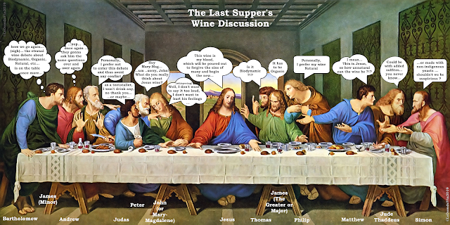 """The Last Supper"" (a Wine Discussion) revisited by ©LeDomduVin 2019"