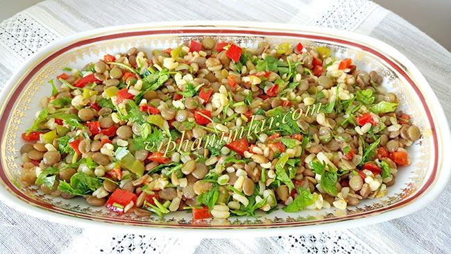 Bulgurlu Mercimek Salatası Nasıl Yapılır  - www.viphanimlar.com