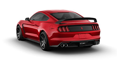 Ford Mustang GT red color convertible rear Hd picture