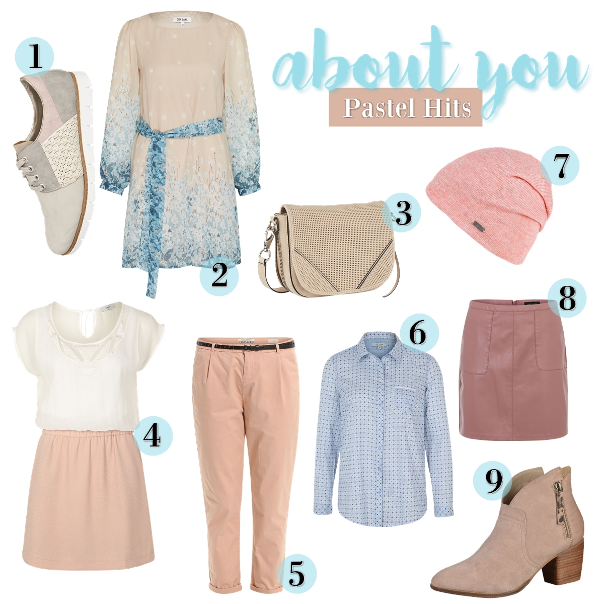 Soft Pastels - Favorite Fashion Items Collage 2