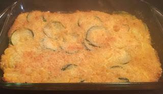 zucchini and yellow squash casserole, cheesy squash and zucchini casserole, Southern zucchini casserole,