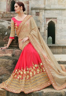 Pure-indian-chiffon-sarees-with-blouse-for-summer-for-girls-6
