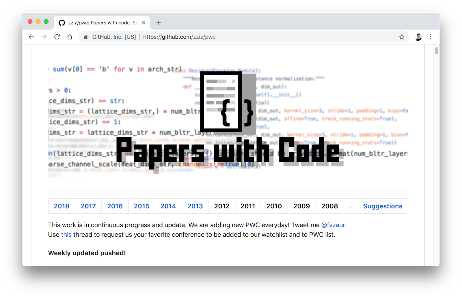 Papers with Code: A Fantastic GitHub Resource for Machine Learning